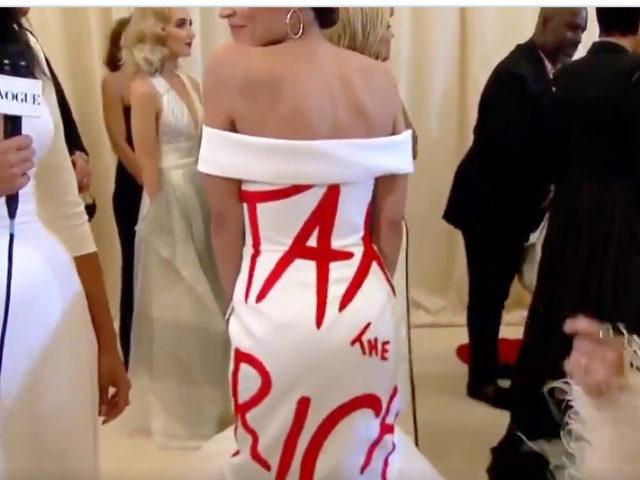 Democrat AOC Wears 'Tax the Rich' Dress to $35,000 Per ...
